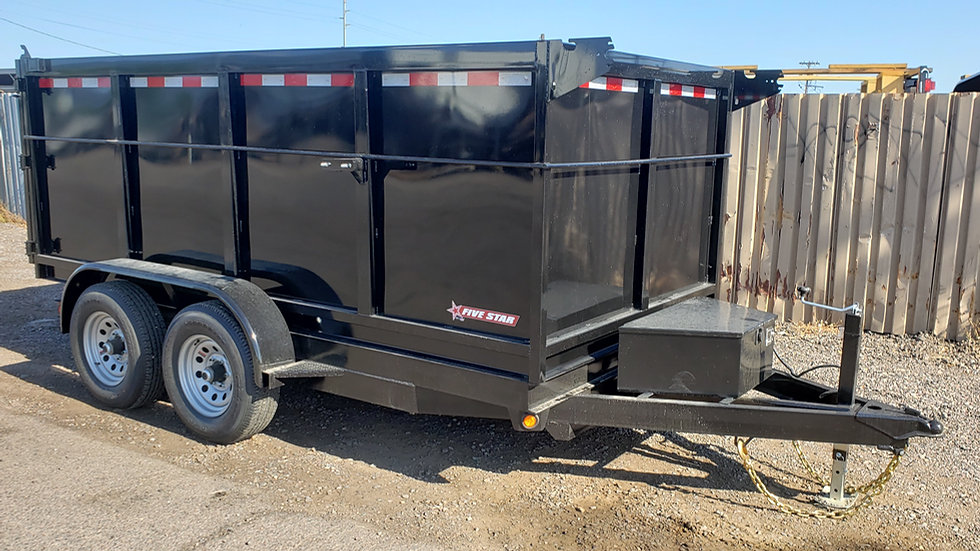 8x10 Five Star Tandem Axle Dump w/ Extended Sides (6K)