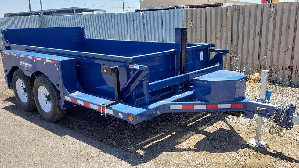Air-Tow 3D-12  8x12 Tandem Axle (14K) Dump/Drop Deck Equipment Hauler