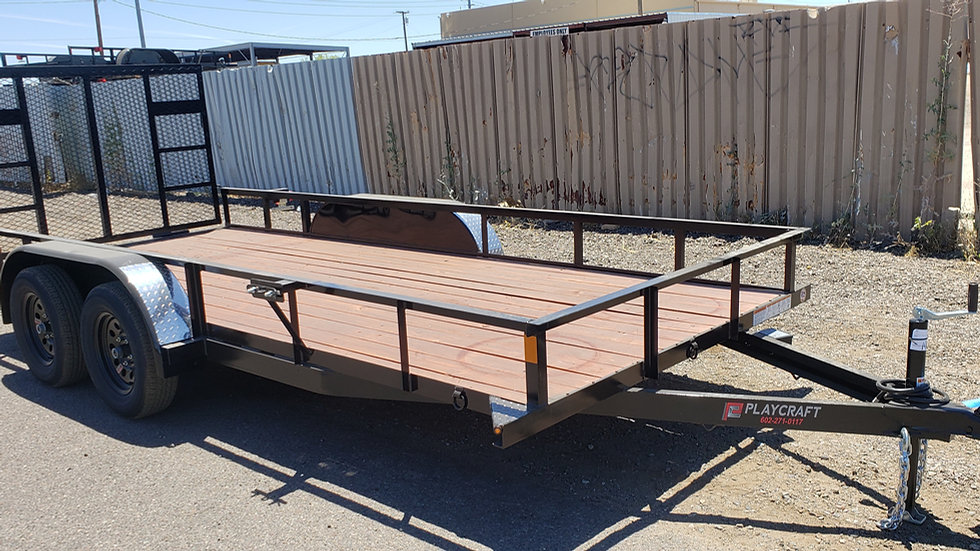 8x16 PlayCraft Tandem Axle Utility with Gate And Breaks