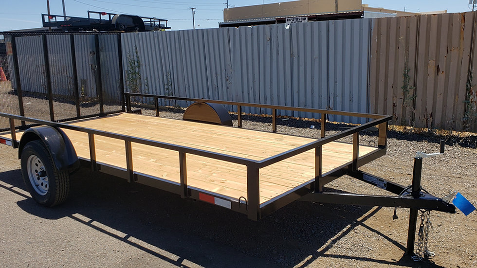 8.5x14  7 Sons Single Axle Utility with Gate