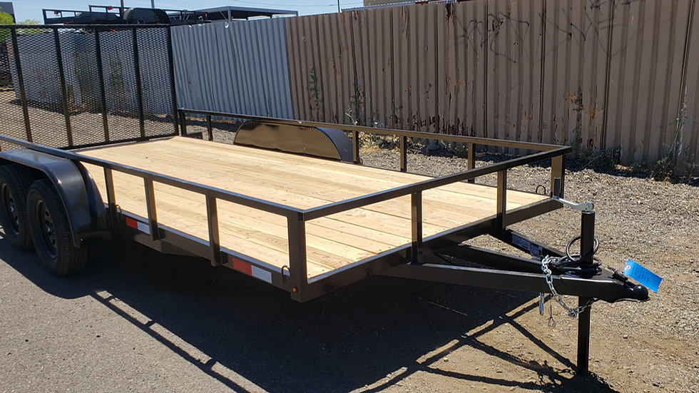 8.5x20 7 Sons Tandem Axle Utility with Gate and Breaks