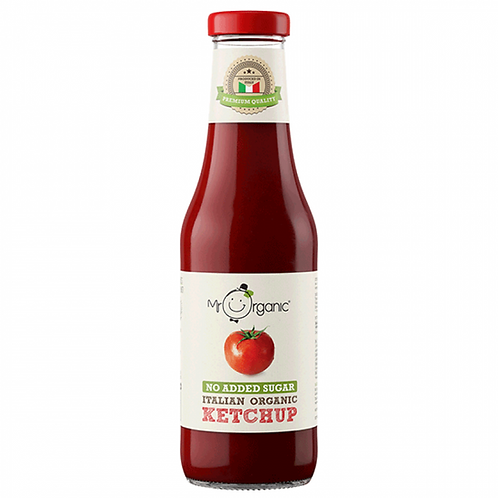 Ketchup (naturally sweetened with apple juice) 480g Organic