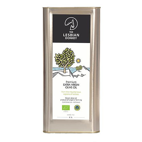 "Organic Greek Olive Oil ""Lesbian Donkey"""
