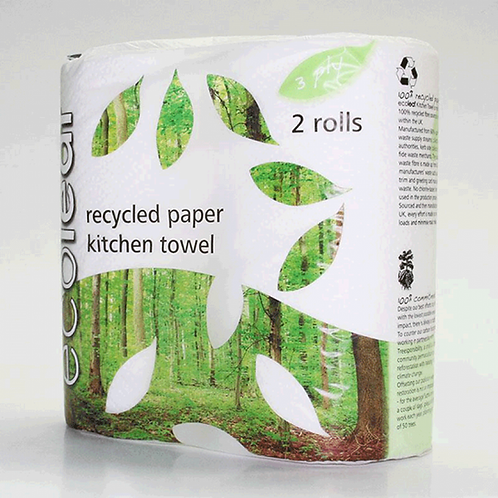 EcoLeaf Recycled Paper Kitchen Roll (2 pack)