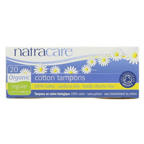 Natracare Regular Organic Cotton Tampons (20s)