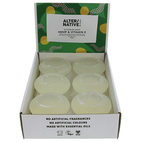 "Hemp Oil Round Soap ""Alter/Native"""