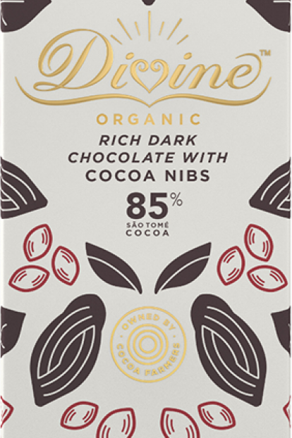 85% Dark Chocolate & Cacoa Nibs Bar