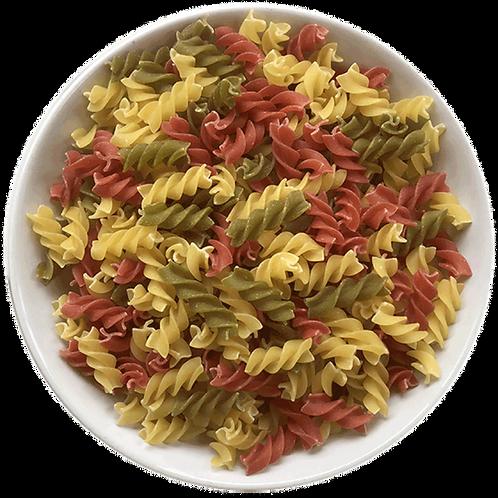 White Tricolore Fusilli Pasta Organic