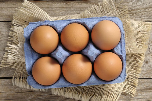 Free Range Eggs x 6 Organic
