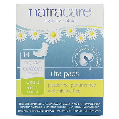 Natracare Regular 14s Ultra Pads-wings
