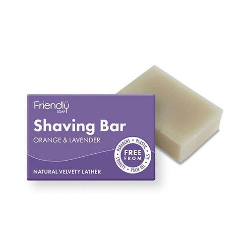 Shaving Soap Bar Lavender & Orange Friendly