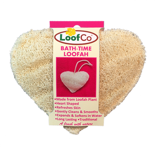 Loofco Bath-Time Loofah Heart