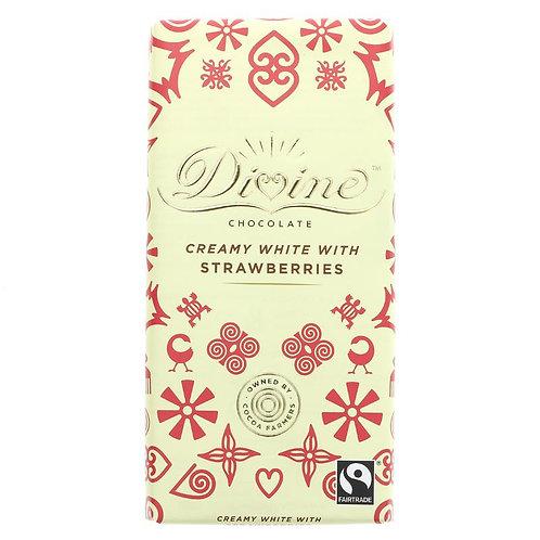 Divine White Choc & Strawberry