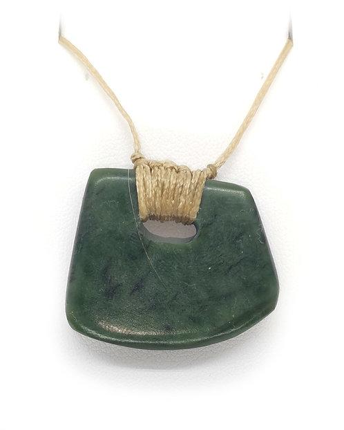 Freeform Greenstone Pendant