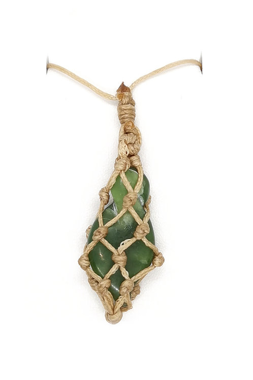 Netted Greenstone Pendant