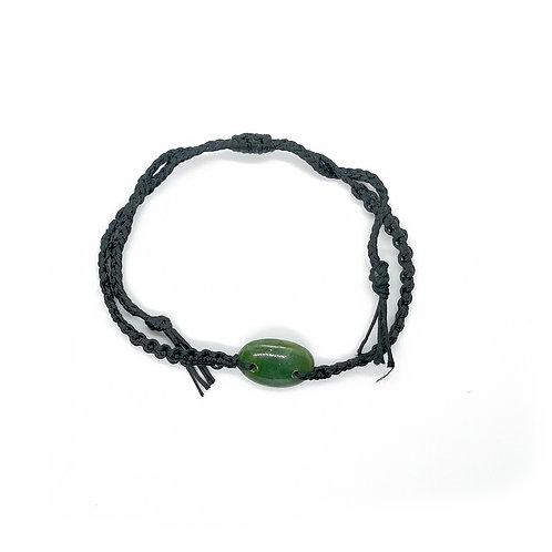 Small Oval Greenstone Bracelet