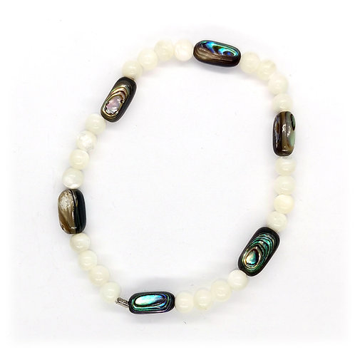Mother of Pearl & Paua Beads Bracelet