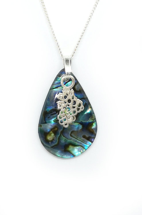 Paua Pendant with Grape Bunch