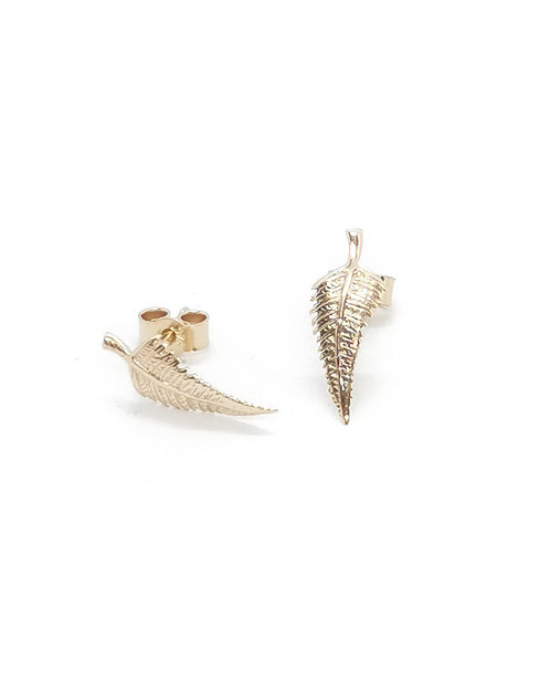 9ct Gold Fern Earrings
