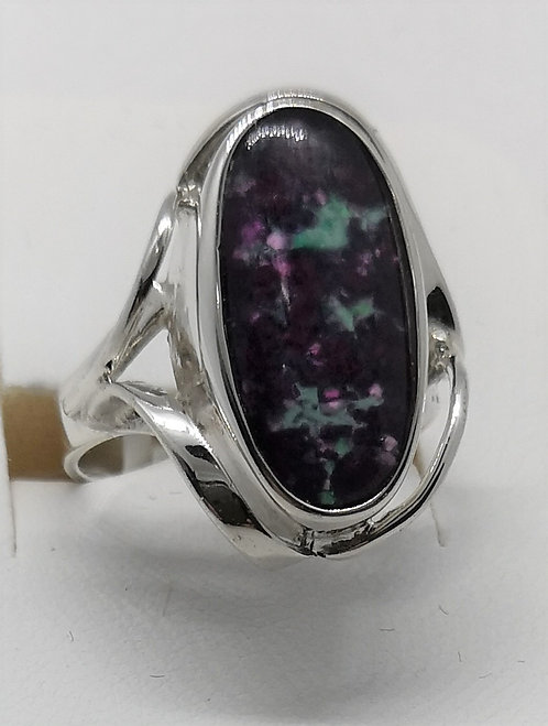 Ruby Rock Ring set in Sterling Silver