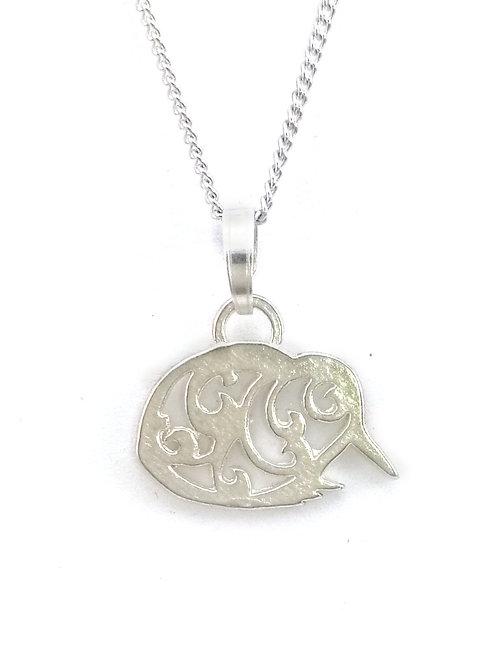Kiwi Pendant | Sterling Silver