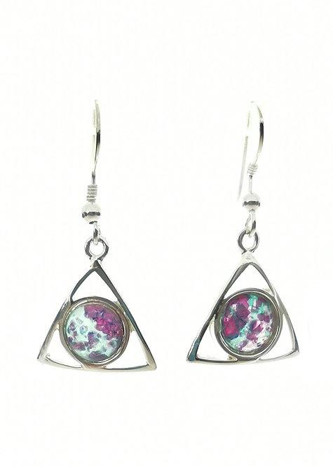 Ruby Rock Earrings set in Sterling Silver