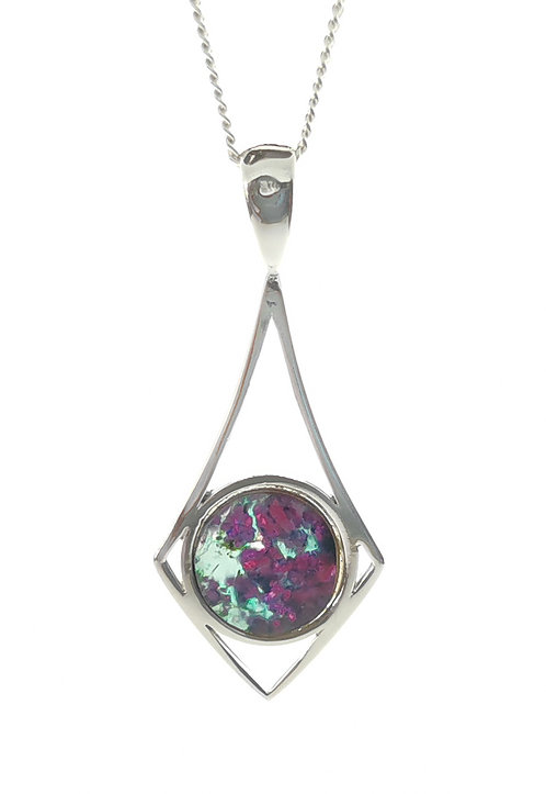 Ruby Rock Pendant set in Sterling Silver