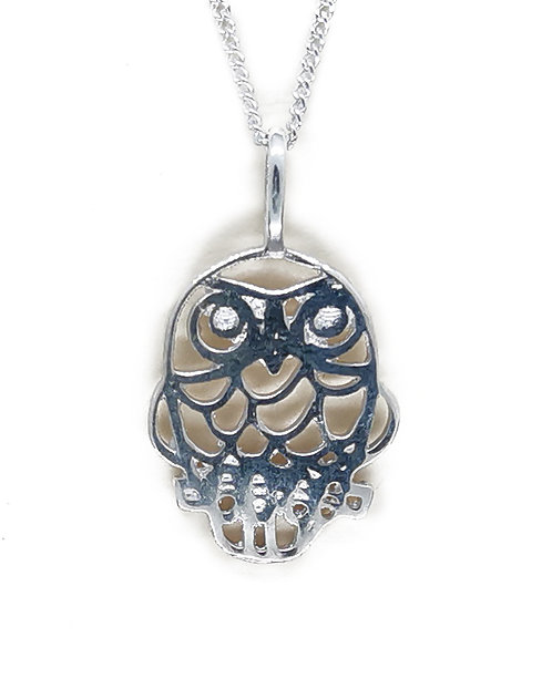 Small Sterling Silver Morepork Pendant