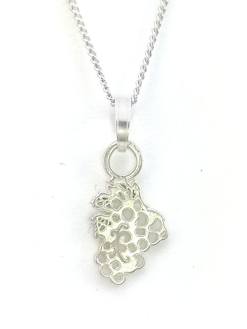 Grape Bunch Pendant | Sterling Silver