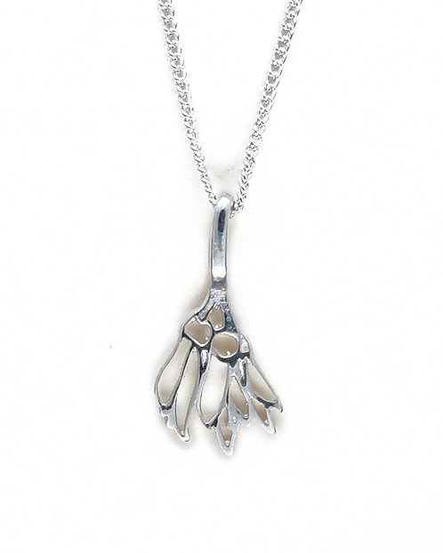Small Sterling Silver Kowhai flower Pendant