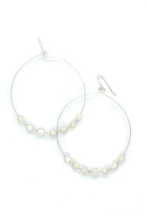 Mother of Pearl Ear-Rings with Sterling Silver Hooks
