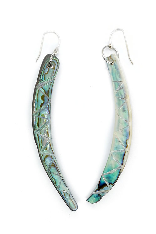 Paua RIm Earring with Sterling Silver Hook