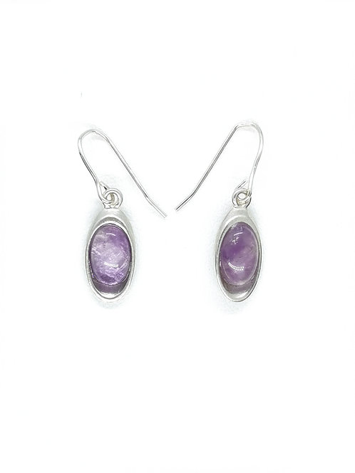 Amethyst Oval Drop Earring