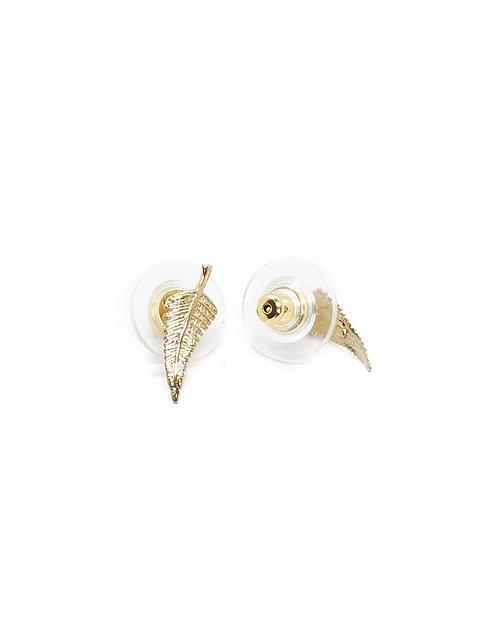 Small Silver Fern Earring