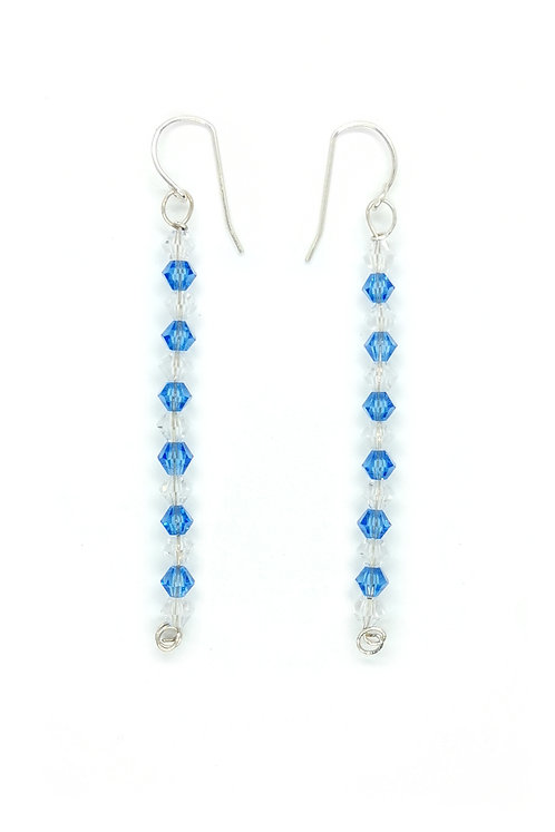 Crystal beads Earring with Sterling Silver Hook