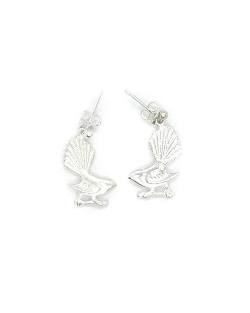 Fantail Stud Drop Earrings