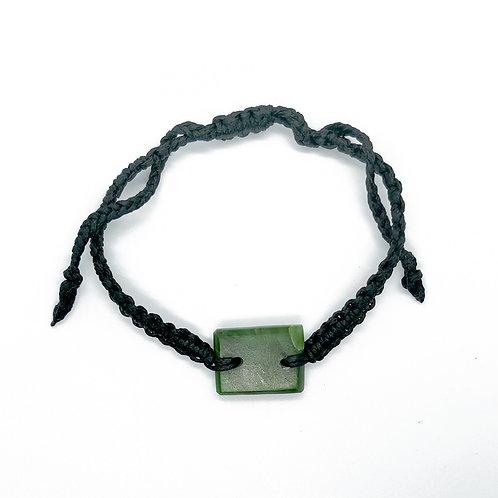 Rectangle Greenstone Bracelet