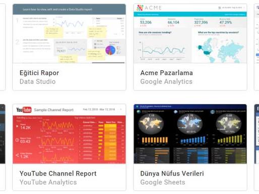 Data Studio ile Raporlama Nedir