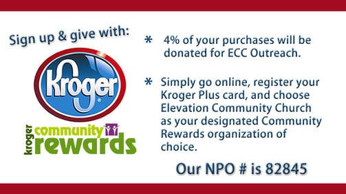 SIGN UP FOR KROGER COMMUNITY REWARDS TO GIVE TO ECC.