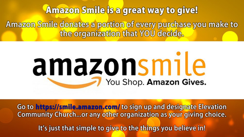 SIGN UP FOR AMAZON SMILE TO GIVE TO ECC.