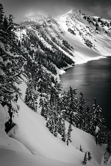 Crater Lake Storm, 2020 Edition Archival Matte Fine-Art Print