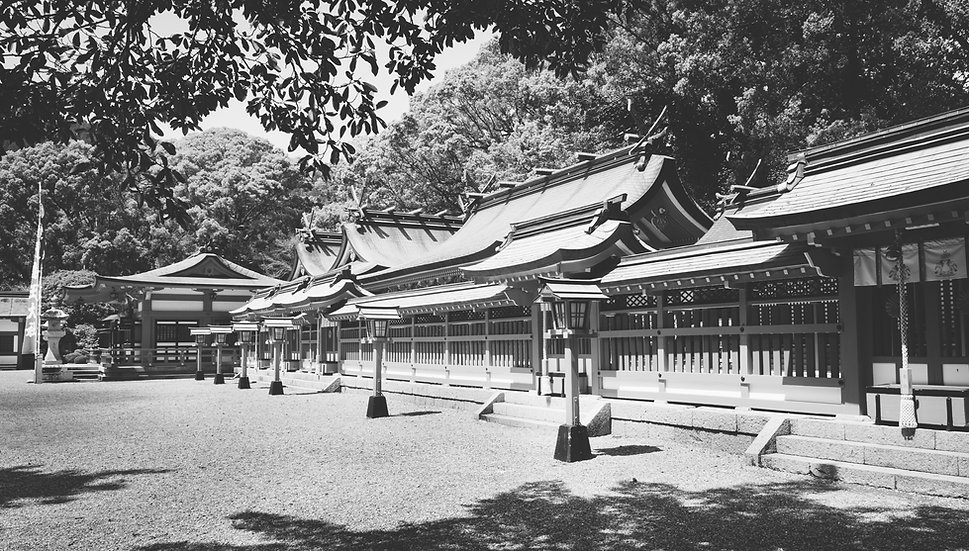 Hayatama Shrine Shadows, 2020 Edition Archival Matte Fine-Art Print