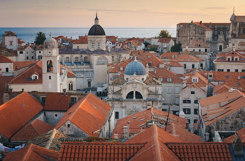 Dubrovnik at Sunset, 2020 Edition Archival Matte Fine-Art Print