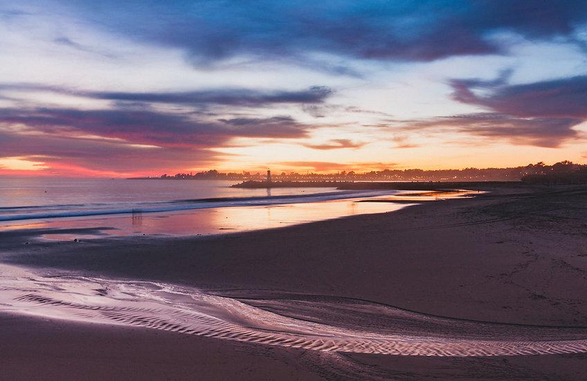 Santa Cruz Harbor Sunset, 2020 Edition Archival Matte Fine-Art Print