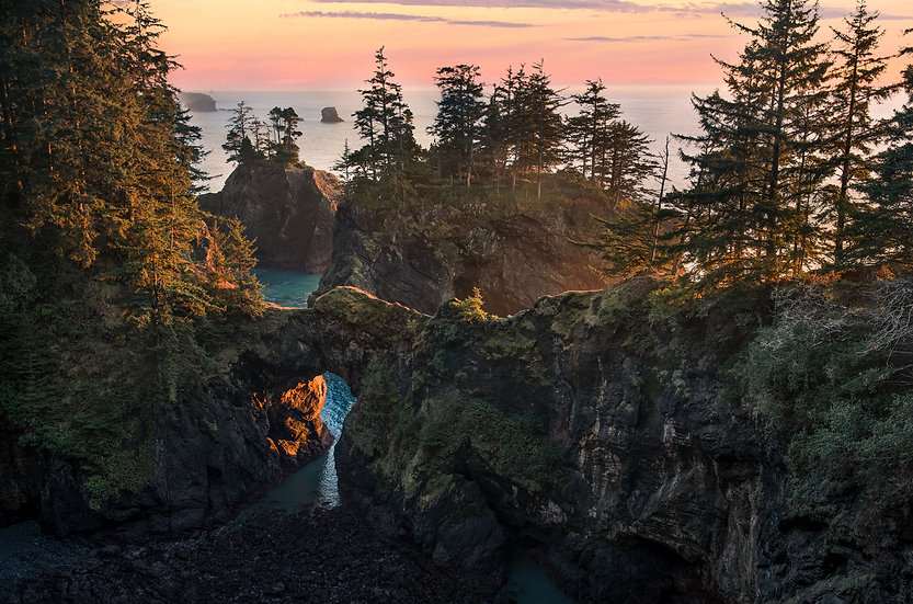 Natural Bridges, Oregon Coast, 2020 Edition Archival Matte Fine-Art Print