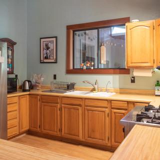 Kitchen and new refridgerator