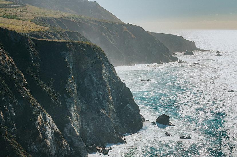 Big Sur Cliffs, 2020 Edition Archival Matte Fine-Art Print