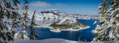 Wizard Island Snow