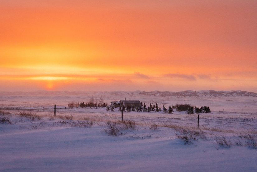 Sunset on Snow, 2020 Edition Archival Matte Fine-Art Print