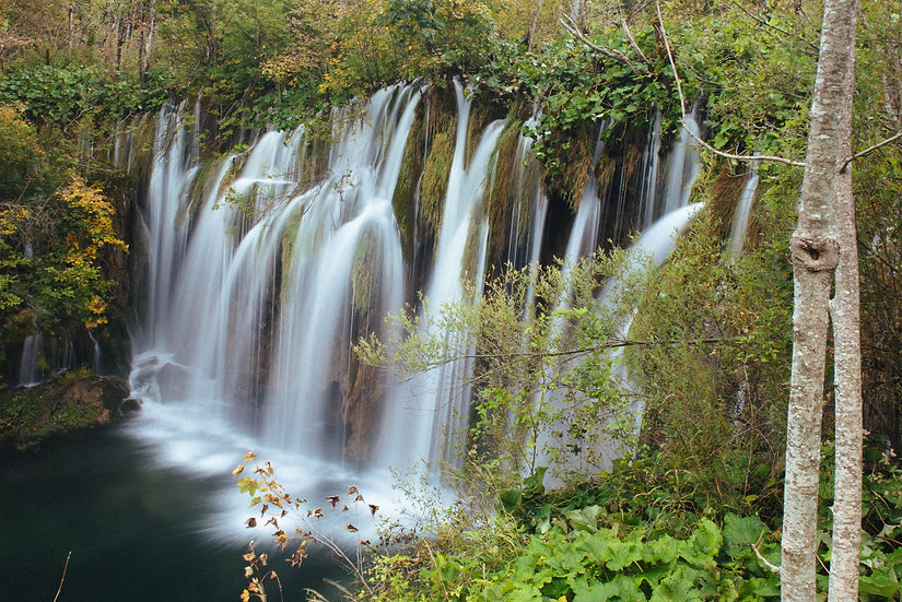 Waterfall, Plitvice Lakes, 2020 Edition Archival Matte Fine-Art Print